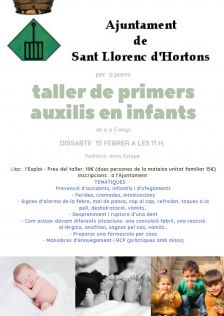 taller primers auxilis en infants